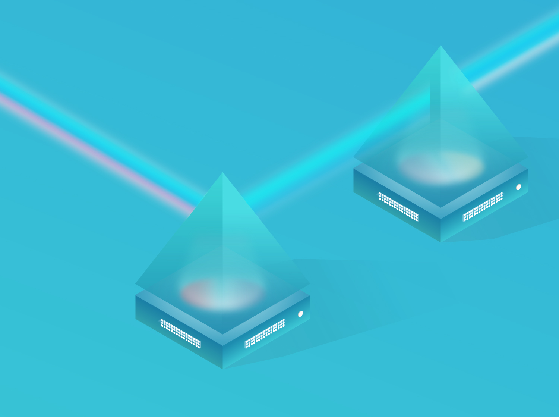 lightmeter prisms communicating data illustration