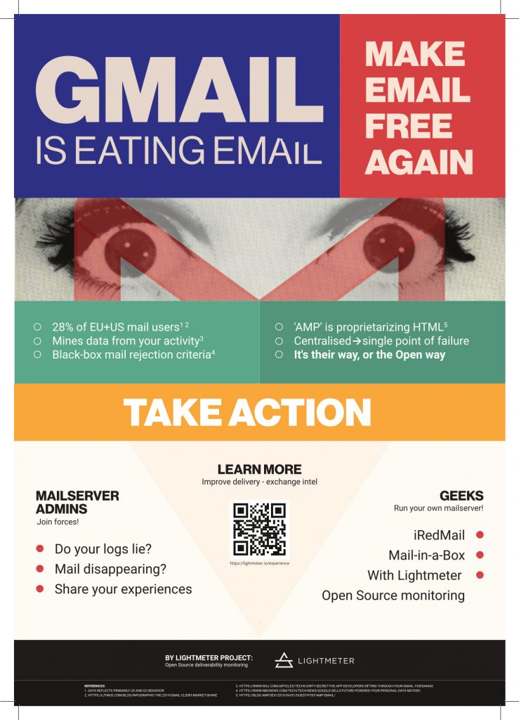 Lightmeter poster campaign: make email great again