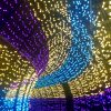 A tunnel of LED lights