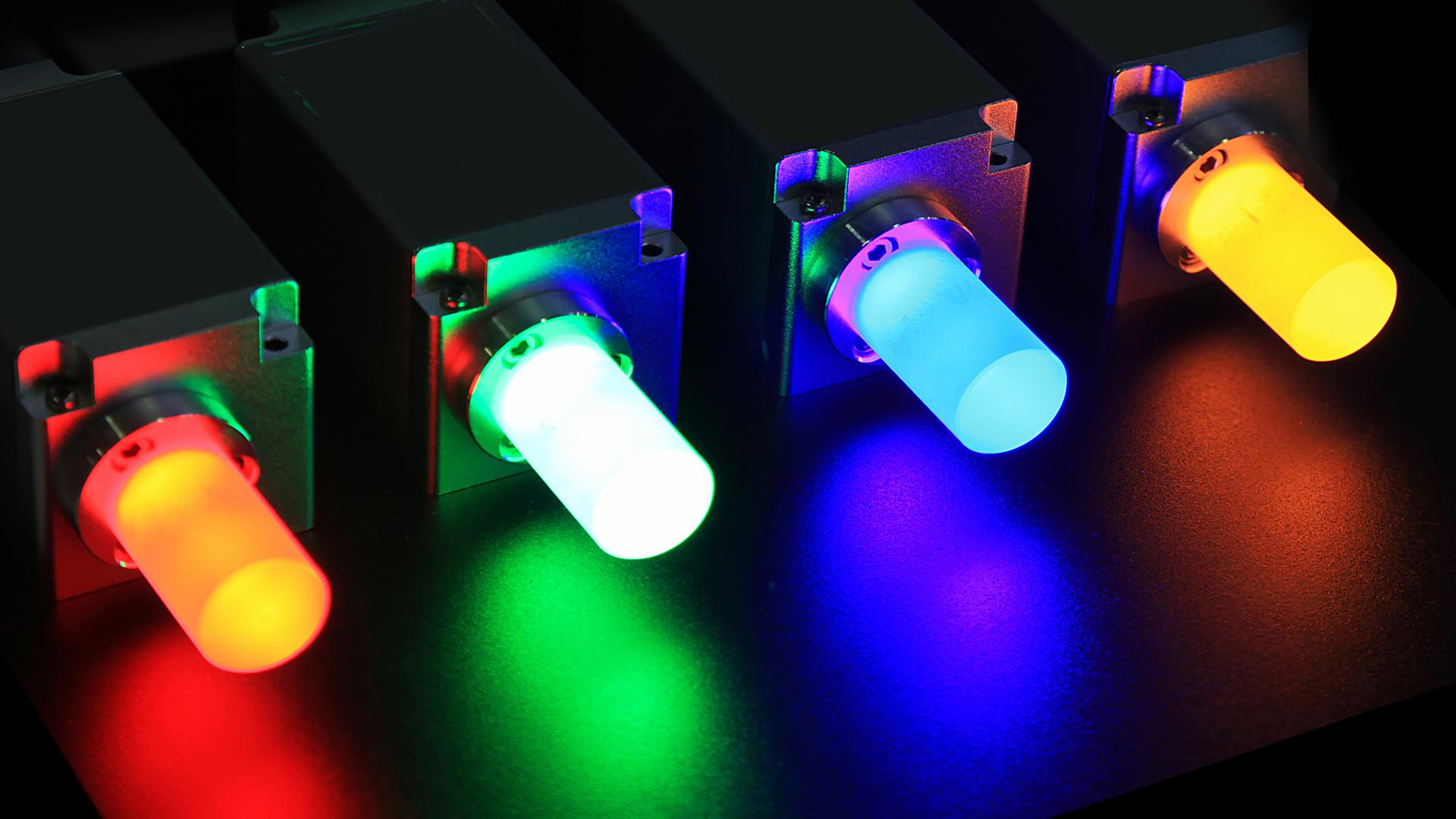 set of illuminated switches