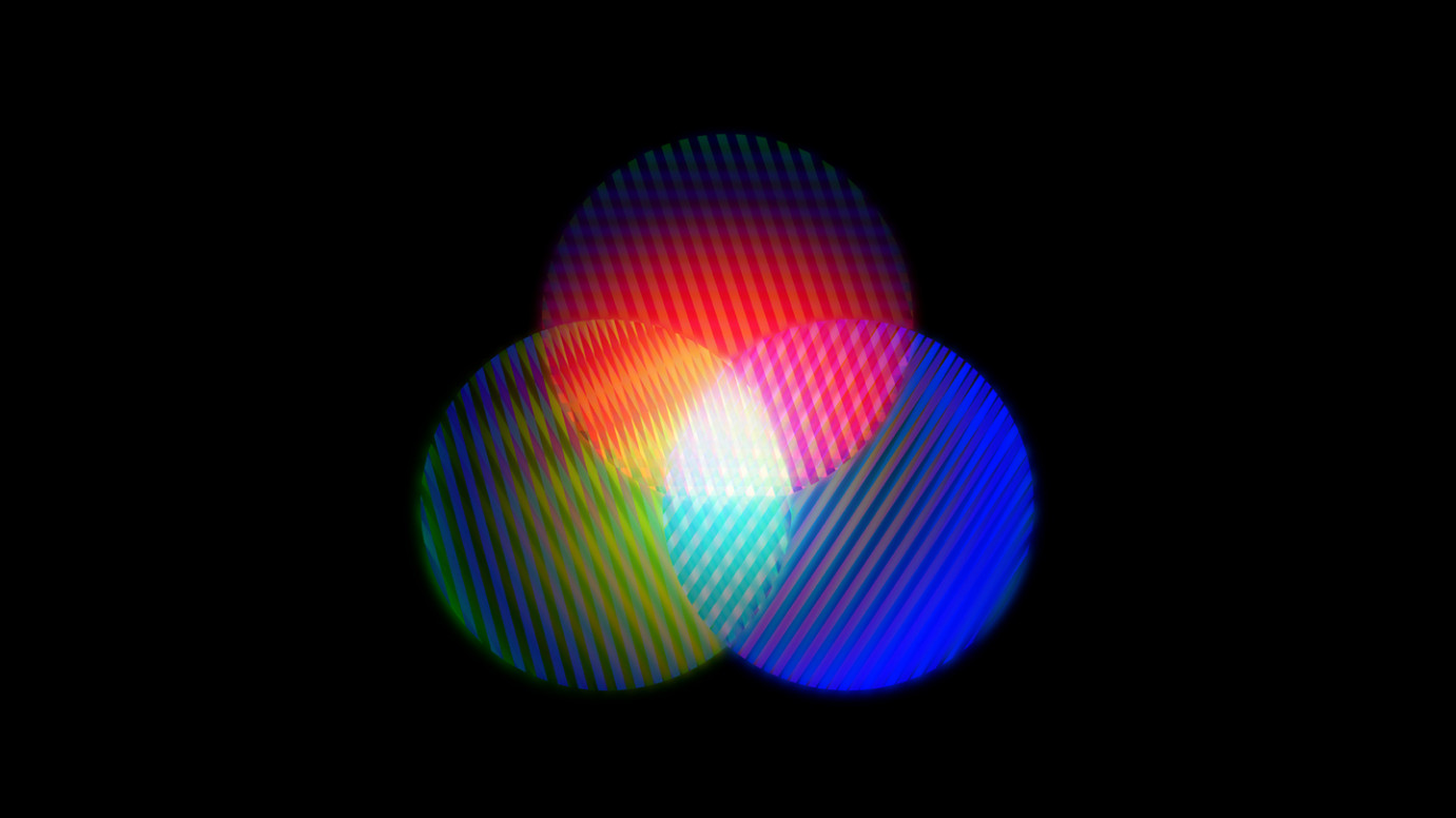 venn diagram with different light sources and textures copyright Bleep